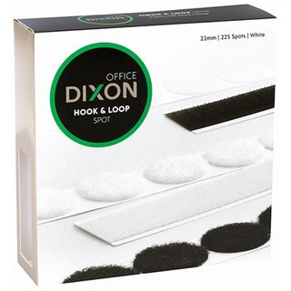 DIXON HOOK & LOOP 225 SPOTS 22MM WHITE