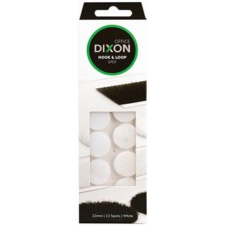 DIXON HOOK & LOOP 12 SPOTS WHITE