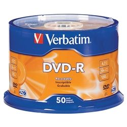 VERBATIM DVD-R 4.7GB 16X SPINDLE 50