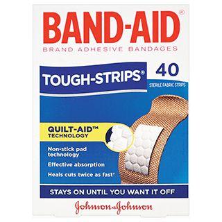 BAND AID TOUGH STRIPS FABRIC PKT/40