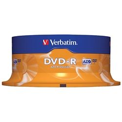 VERBATIM DVD-R 4.7GB 16X SPINDLE PKT/25