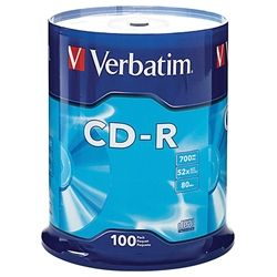 VERBATIM CD-R 700MB 52X SPINDLE 100