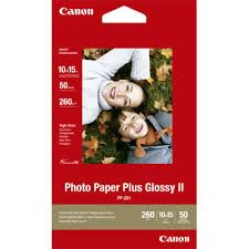 PAPER PHOTO GLOSSY II 4X6 PKT/50 CANON P