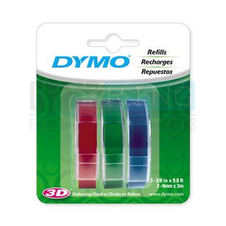 DYMO TAPEWRITER EMBOSSING LABELS ASST