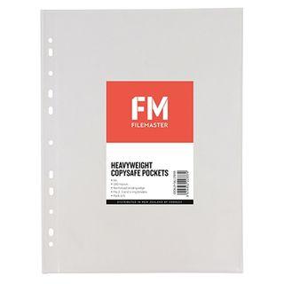 FM HEAVY DUTY COPYSAFE POCKETS A4 PK/5