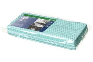 CLEANING CLOTH TORK GREEN 60X30CM PKT/25