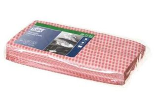 CLEANING CLOTH TORK RED 60 X 30CM PKT/25