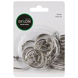 DIXON BOOK RINGS 25MM PKT10