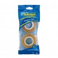 SELLOTAPE CELLULOSE TAPE 18X33 TWIN PACK