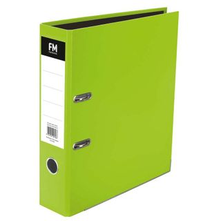 LEVER ARCH FILE FM VIVID A4 LIME GREEN