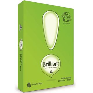 COPY PAPER BRILLIANT A4 80GSM WHITE
