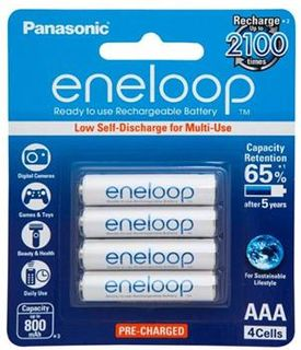 PANASONIC RECHARGEABLE BATTERIES AAA 4PK