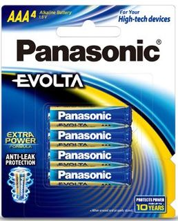 PANASONIC BATTERY EVOLTA AAA PKT4