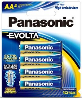 PANASONIC BATTERY EVOLTA AA PKT4