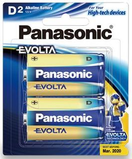 PANASONIC EVOLTA BATTERY D PKT/2