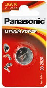 PANASONIC BATTERY CR2016 LITHIUM 3V