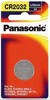 PANASONIC BATTERY CR2032 LITHIUM 3V