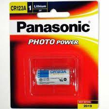 PANASONIC BATTERY CR123A LITHIUM 3V