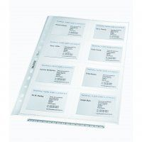 LEITZ BUSINESS CARD POCKETS A4 PKT/10