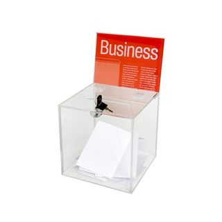 BALLOT BOX ESSELTE CLEAR SMALL WITH KEY