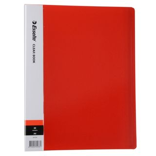 DISPLAY BOOK RED A4 20 POCKET ESSELTE
