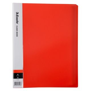 DISPLAY BOOK RED A4 40 POCKET ESSELTE