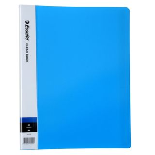 DISPLAY BOOK BLUE A4 40 POCKET ESSELTE