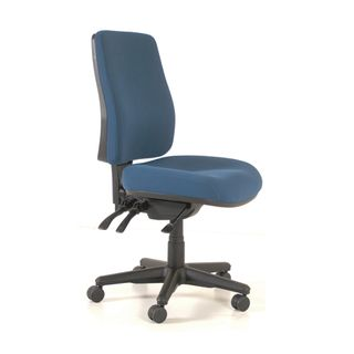 CHAIR BURO ROMA HIGHBACK 3 LEVER NAVY