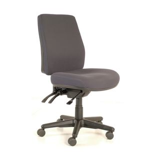 CHAIR BURO ROMA HIGHBACK 3 LEVER GREY