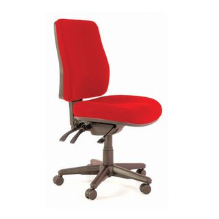 CHAIR BURO ROMA HIGHBACK 3 LEVER RED