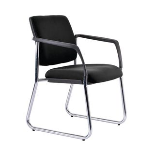 VISITOR CHAIR BURO LINDIS S/BASE BLACK