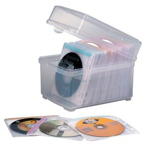 CD/DVD STORAGE SLEEVES AND BOX 100 CAP