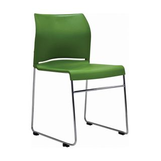 VISITOR CHAIR BURO ENVY GREEN SKID BASE