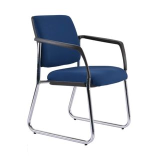 VISITOR CHAIR BURO LINDIS SLED BASE NAVY