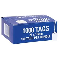 HARDWARE TAGS 21H 21X13MM BUNDLE/100
