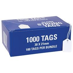 HARDWARE TAGS 23H 30X21MM BUNDLE/100