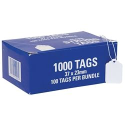 HARDWARE TAGS 24H 37X23MM BUNDLE/100