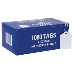 HARDWARE TAGS 26H 47X30MM BUNDLE/100