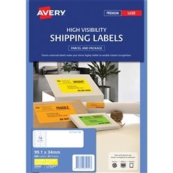AVERY FLUORO LABELS L7162FY16 UP YELLOW
