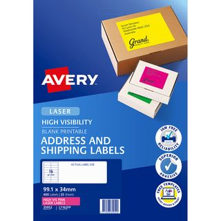 AVERY FLUORO LABELS L7162FP16 UP PINK