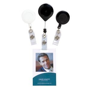 RETRACTABLE ID HOLDERS REXEL WHITE