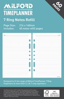MILFORD ORGANISER REFILL 7 RING NOTES