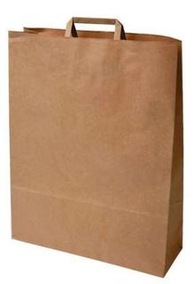 FLAT HANDLE KRAFT PAPER CARRY BAG #60