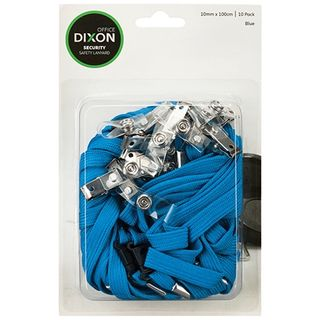 DIXON LANYARD FLAT BLUE PKT/10