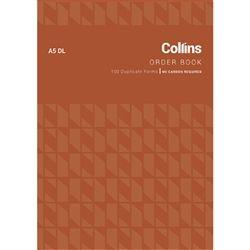COLLINS ORDER BOOK A5DL