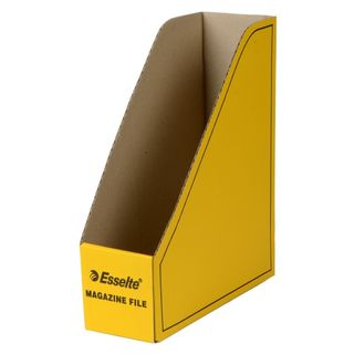 ESSELTE MAGAZINE FILE CARDBOARD YELLOW