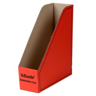 ESSELTE MAGAZINE FILE CARDBOARD RED