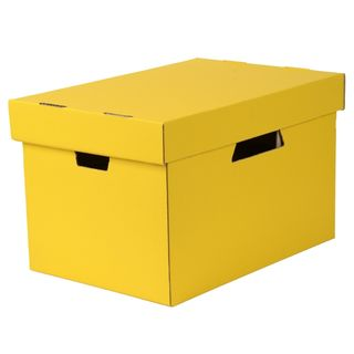ESSELTE ARCHIVE BOX WITH LID YELLOW