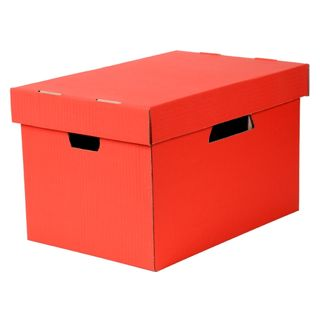 ESSELTE ARCHIVE  BOX WITH LID RED
