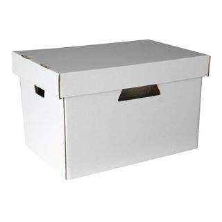 ESSELTE ARCHIVE BOX WITH LID WHITE